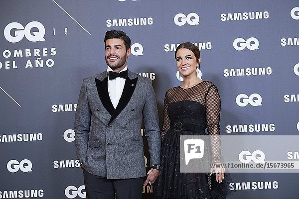 Miguel Torres  Paula Echevarria attends GQ Men of the Year Awards 2019 at Palace Hotel on November 21  2019 in Madrid  Spain
