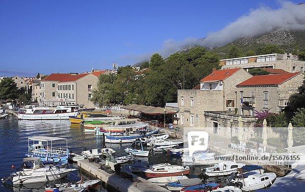 Croatia  Brac  Bol  port  harbor  boats.