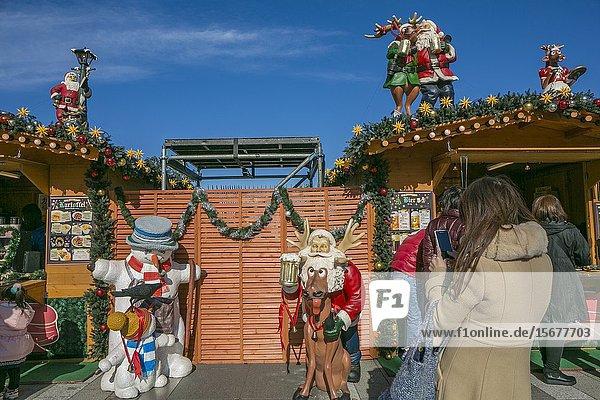 Christmas market. Shopping around Tokyo Sky Tree. Sumida Neighborhood. Tokyo. Japan.