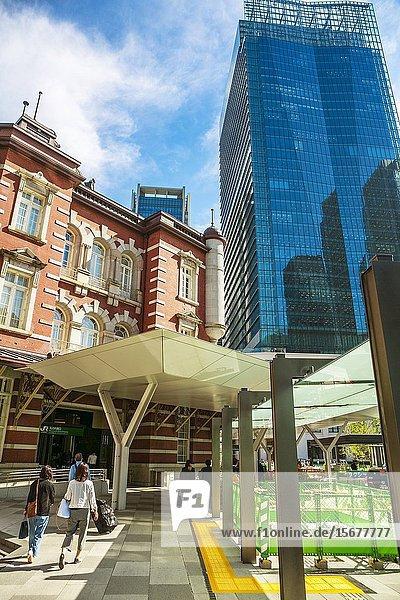 Tokyo Station  Marunouchi business district  Chiyoda ward  Tokyo  Japan  Asia.