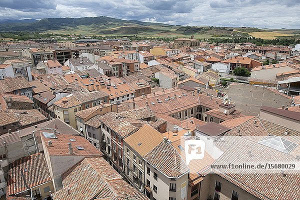 View of Santo Domingo de la Calzada  Belltower  Santo Domingo de la Calzada Cathedral  La Rioja  Spain  Europe.