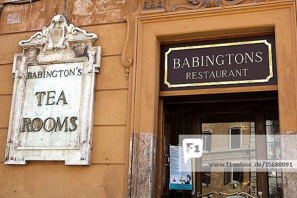 Babington's Restaurant next to the Spanish Steps Rome Italy.