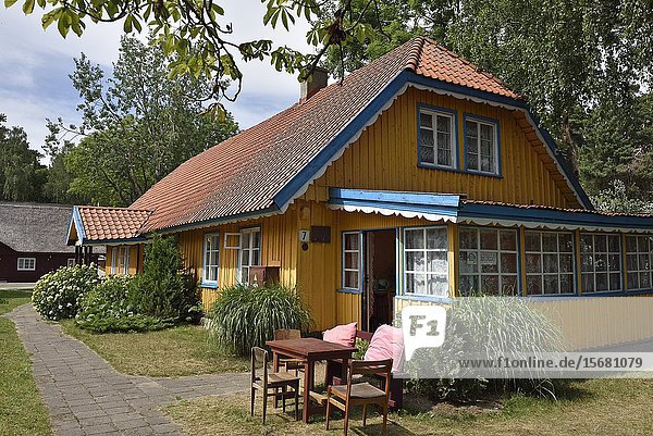 Typical wooden house at Nida  Curonian Spit  Lithuania  Baltic States  North Europe.