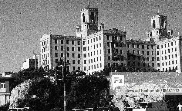Cuba: The luxury and legendary hotel El International in HAvanna city.