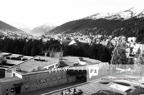 The Congress Center of Davos  Europe's highest city in the Swiss Alps.