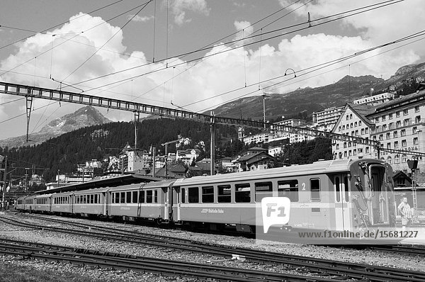 Swiss alps: The Unesco World Heritage train trips starts in Chur and ends in St. Moritz.