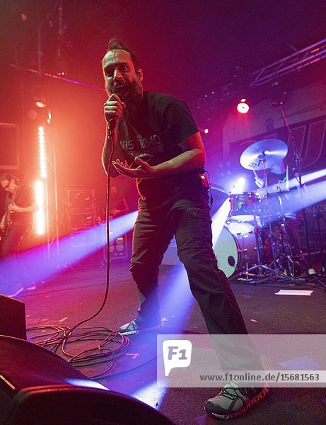 (Madrid  Spain  December 11th  2019) Neil Fallon of Clutch performs on stage at Sala But in Madrid (Photo by Angel Manzano)