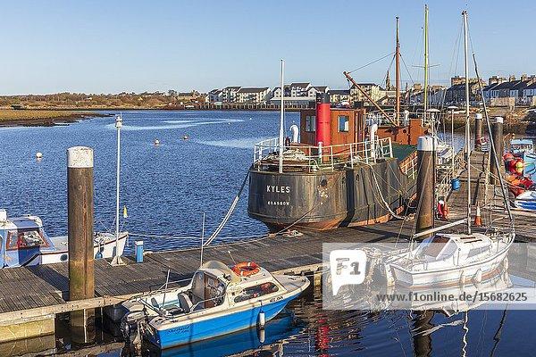 Irvine harbour  Ayrshire  Scotland  UK.