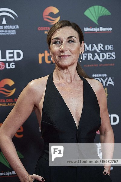 Mona Martinez ('Adios') attends Candidates to Goya Cinema Awards 2018 Dinner Party at Florida Park on December 16,  2019 in Madrid,  Spain