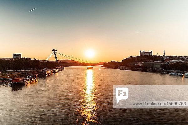 View of UFO Bridge during sunset