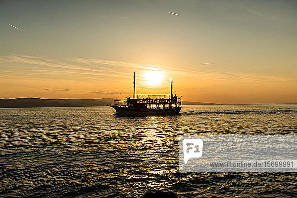 Ship moving in sea