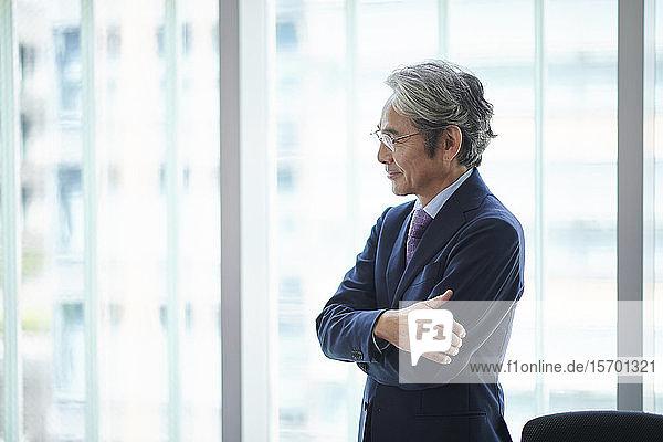 Senior Japanese businessman