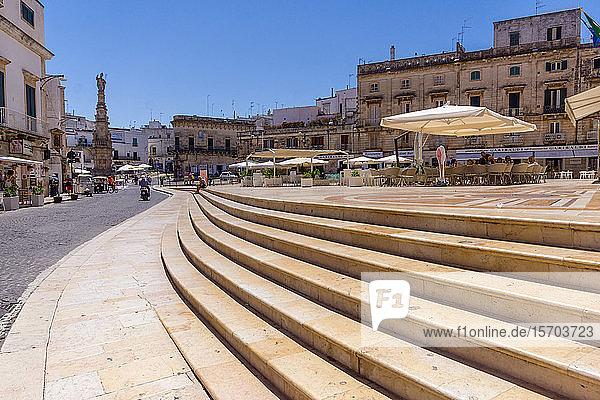 Italy  Apulia  Ostuni  Piazza della Libertà