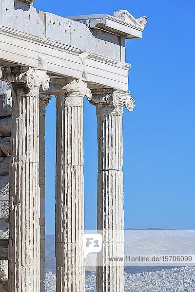 Erechtheion Temple  Acropolis  UNESCO World Heritage Site  Athens  Greece  Europe