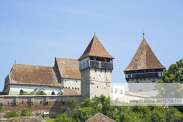 Alma Vii Fortified Church  14th century  Alma Vii  Sibiu County  Romania  Europe