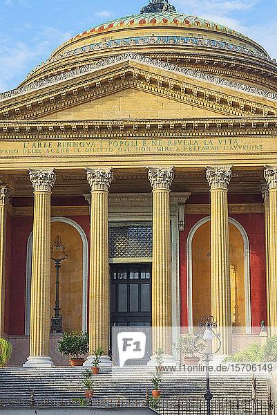 Teatro Massimo  Palermo  Sicily  Italy  Europe