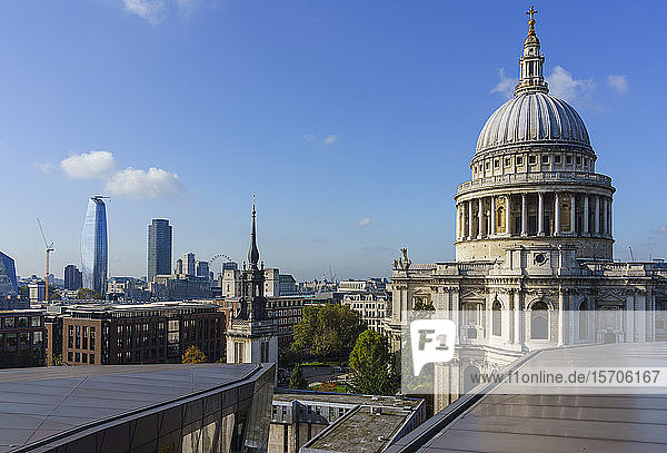 St. Paul's Cathedral and city skyline from One New Change  London  England  United Kingdom  Europe