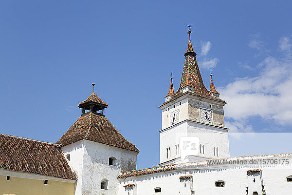 Clock Tower  Harman Fortified Church  13th century  Harman  Brasov County  Romania  Europe