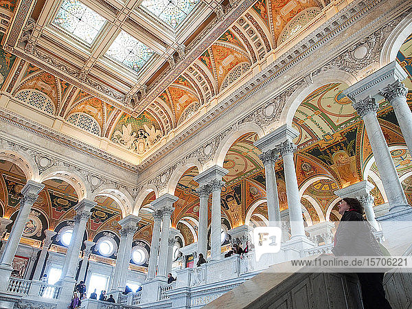 Great Hall of the Library of Congress  Washington  DC  United States of America  North America