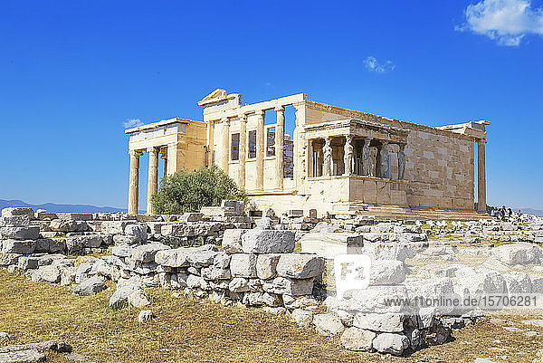 Porch of Caryatids  Erechtheion Temple  Acropolis  UNESCO World Heritage Site  Athens  Greece  Europe