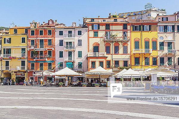 Historic district  Lerici  La Spezia district  Liguria  Italy  Europe