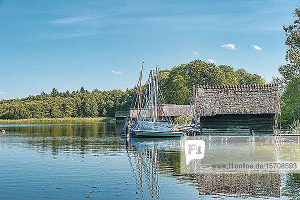 Germany  Mecklenburg-Western Pomerania  Zarrentin  Lauenburg Lakes Nature Park  Lake Schaalsee