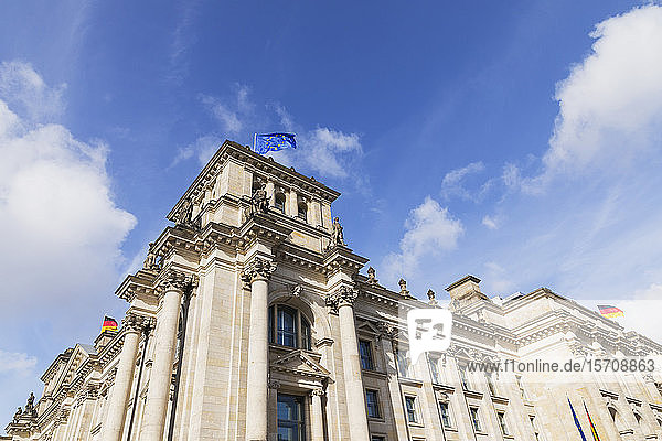 Germany  Berlin  Low angle view ofReichstagbuilding