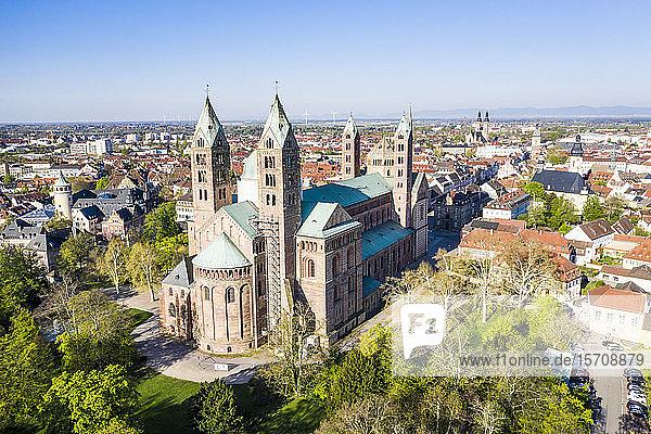 Deutschland  Speyer  Luftbild des Doms zu Speyer