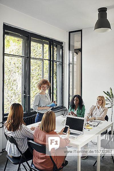 Businesswomen having a meeting in office