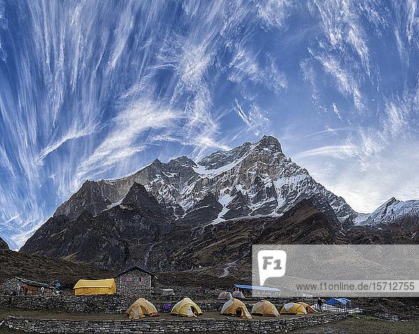 Dhaulagiri I  Italienisches Basislager  Dhaulagiri-Rundwanderung  Himalaya  Nepal