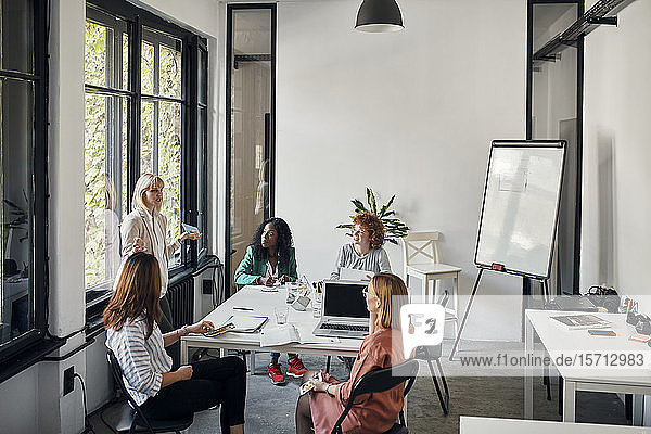 Businesswomen having a meeting in office