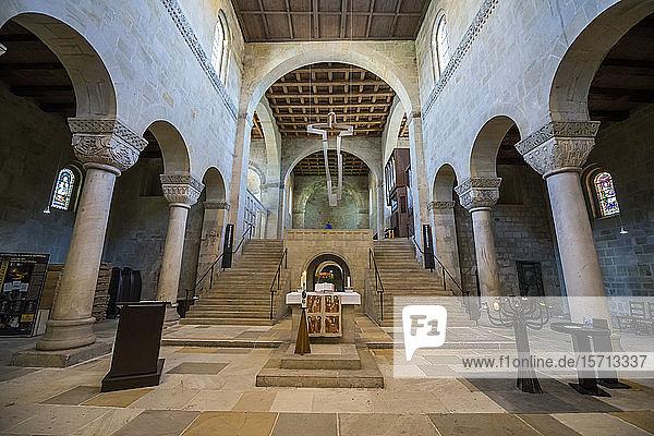 Germany  Saxony-Anhalt  Quedlinburg  Interior of Church of Saint Servatius