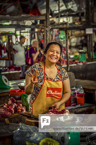Floating market  Mekongdelta  Vietnam  Asia