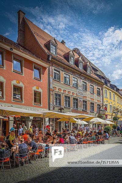Reichenstrasse  Fuessen  Upper Bavaria  Bavaria  Germany  Europe