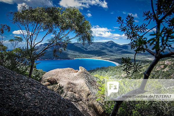 Wineglass Bay  Freycinet National Park  Tasmania  Australia