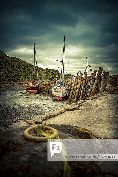 Harbour  Aberdour  Fife  Scotland  Europe