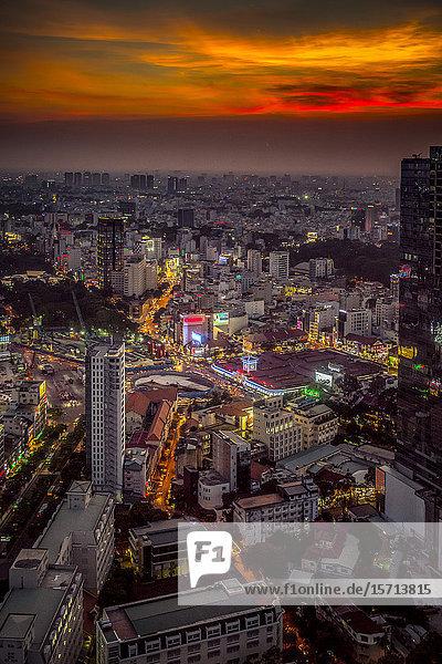 View from Bitexco Financial Tower  Saigon  Vietnam  Asia
