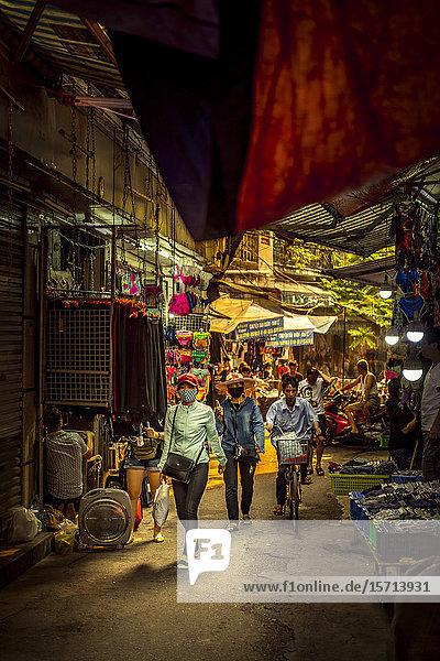 Markt  Hanoi  Vietnam  Asien