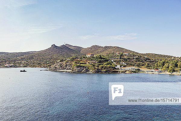 Coast of Cape Sounion  Attika  Greece