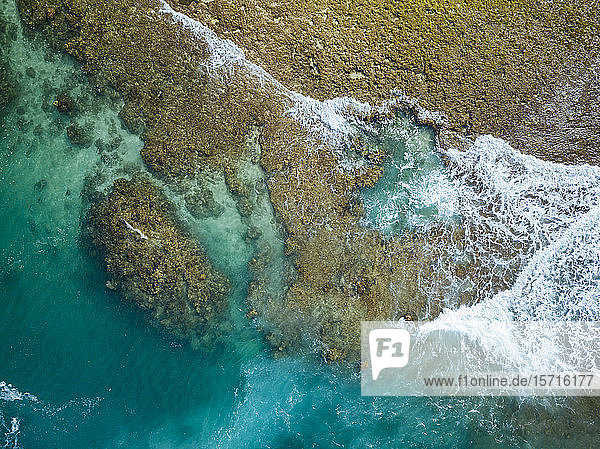 Indonesia  Sumbawa  Aerial view of reef
