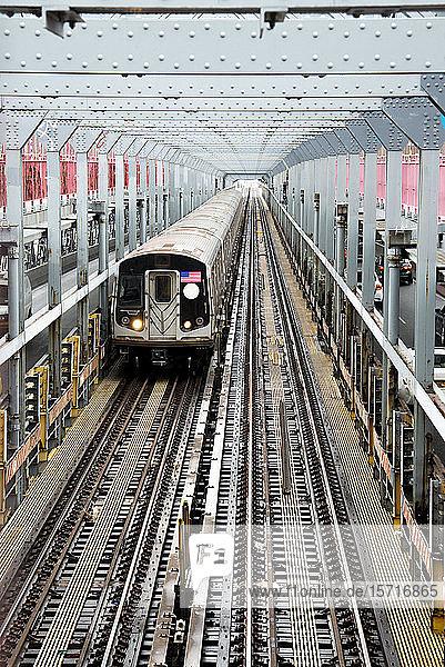 USA  New York  New York City  Commuter train