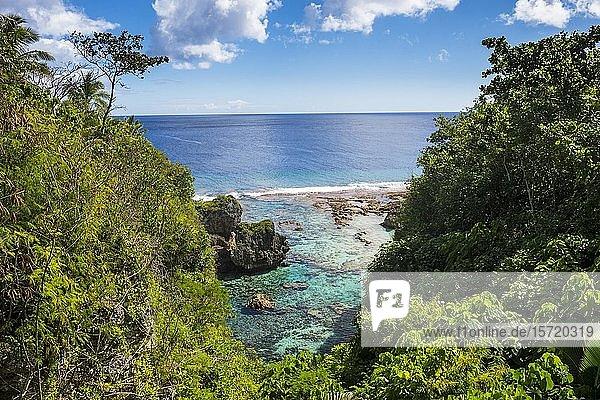 Gezeitenbecken an der Küste  Südpazifik  Niue  Ozeanien