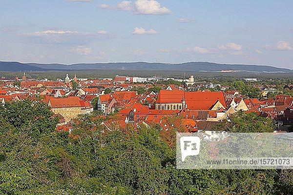 Blick vom Garten der Neuen Residenz auf Bamberg  Oberfranken  Bayern  Deutschland  Europa