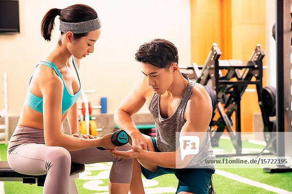 Fitness trainer to guide youth woman