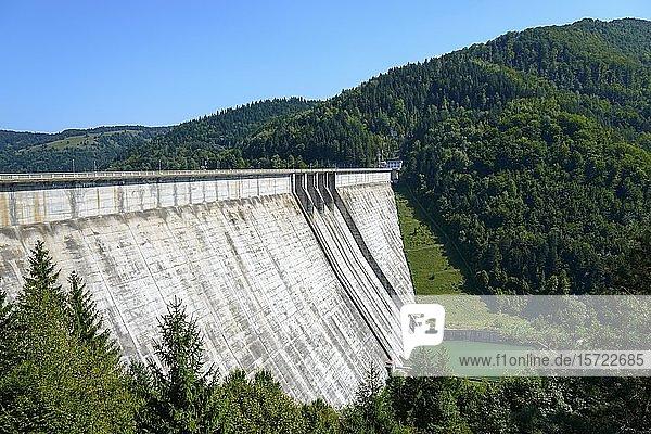 Staumauer  Stausee Izvorul Muntelui  Bukowina  Rumänien  Europa