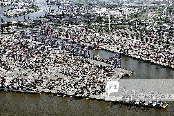 Containerterminal Burchardkai  Waltershofer Hafen  Waltershof  Hamburg  Deutschland  Europa