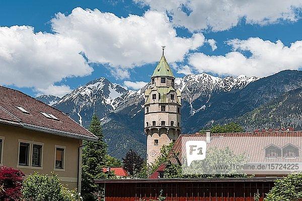 Turm der Burg Hasegg  Hall in Tirol  Tirol  Österreich  Europa