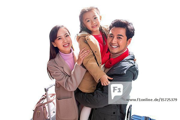 Young parents and their daughter