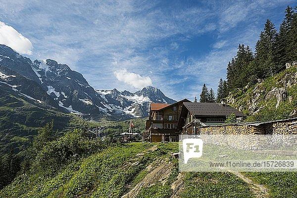 Berggasthof Tschingelhorn  hinteres Lauterbrunnental  Schweizer Alpen Jungfrau-Aletsch  Berner Oberland  Schweiz  Europa