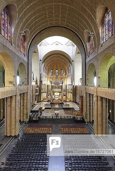 Nationale Basilika des Heiligen Herzens  Innenansicht  Ganshoren  Brüssel  Belgien  Europa